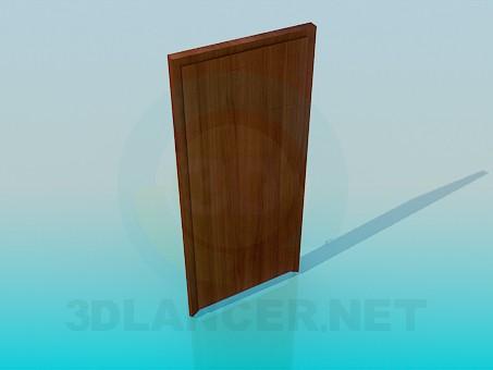 3d modeling Wooden door model free download