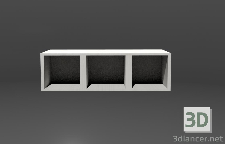 3d Hanging shelf model buy - render