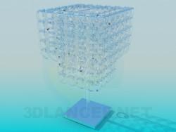 Lampe de table avec des chaînes de verre