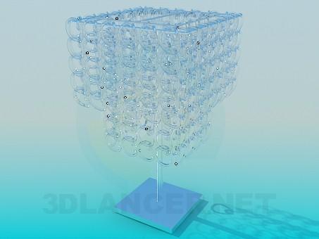 3d модель Настільний світильник зі скляними ланцюжками – превью