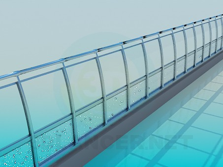 3d model Metal railing - preview