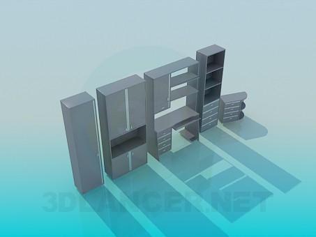 modelo 3D Vivo en un estudio - escuchar