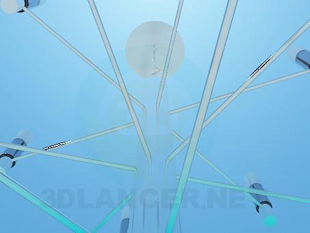 3d модель Трехуровневая люстра в стиле минимализм – превью