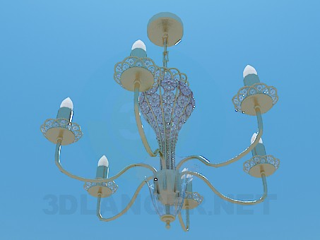 3d modeling Сhandelier model free download