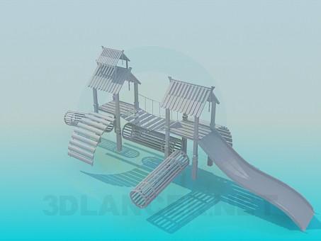 3d модель Детский городок – превью