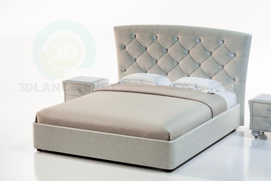 3d модель Ліжко Палермо – превью