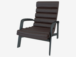 Armchair leather on a wooden frame Saville (73h91h90)