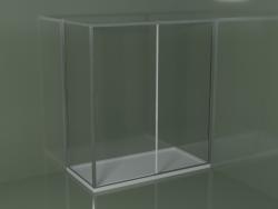 Cabina doccia scorrevole ZQ + ZF 180 per piatto doccia angolare rettangolare