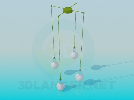 3d modeling Pendant for 4 bulbs model free download