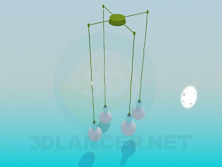 3d model Pendant for 4 bulbs - preview