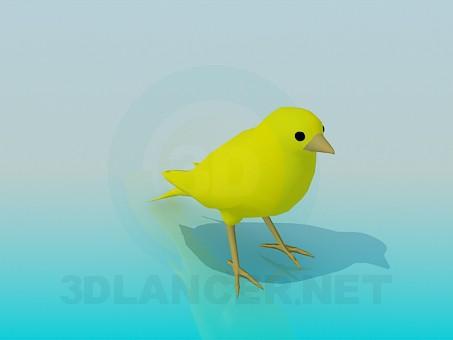 Modelo 3d Pássaro - preview