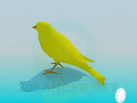 3d модель Пташка – превью