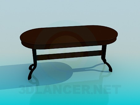 3d model Table in the dining room - preview