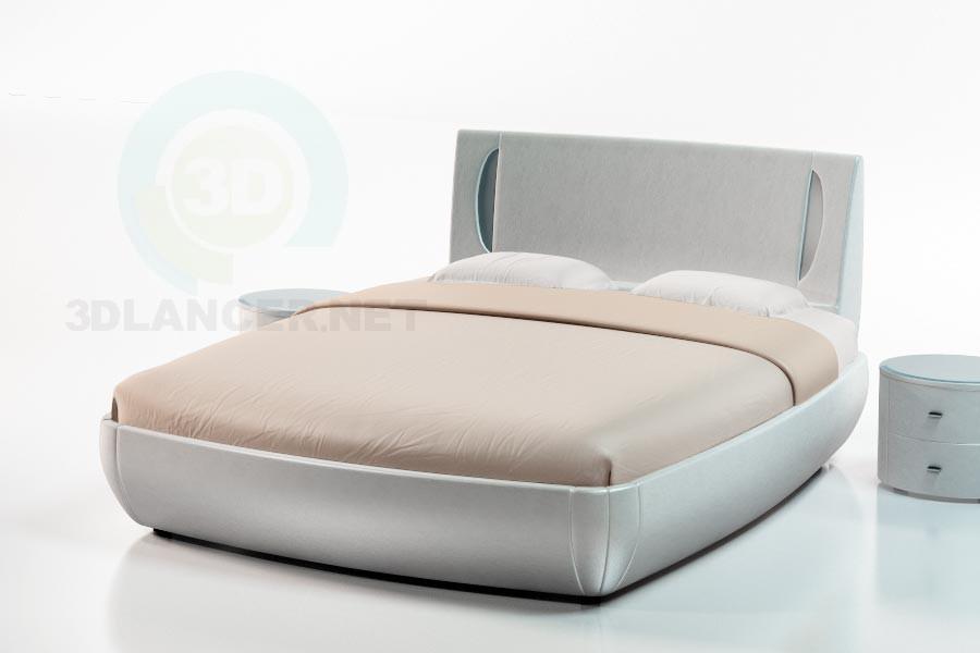3d модель Кровать Равелло – превью