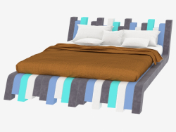 Lit double Cu.Bed Color