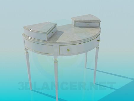 3d модель Полукруглый стол с ящиками – превью