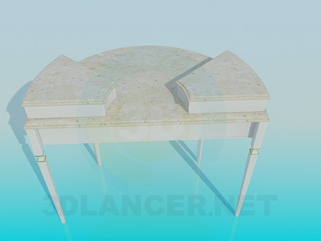 3d model The semi-circular table with drawers - preview