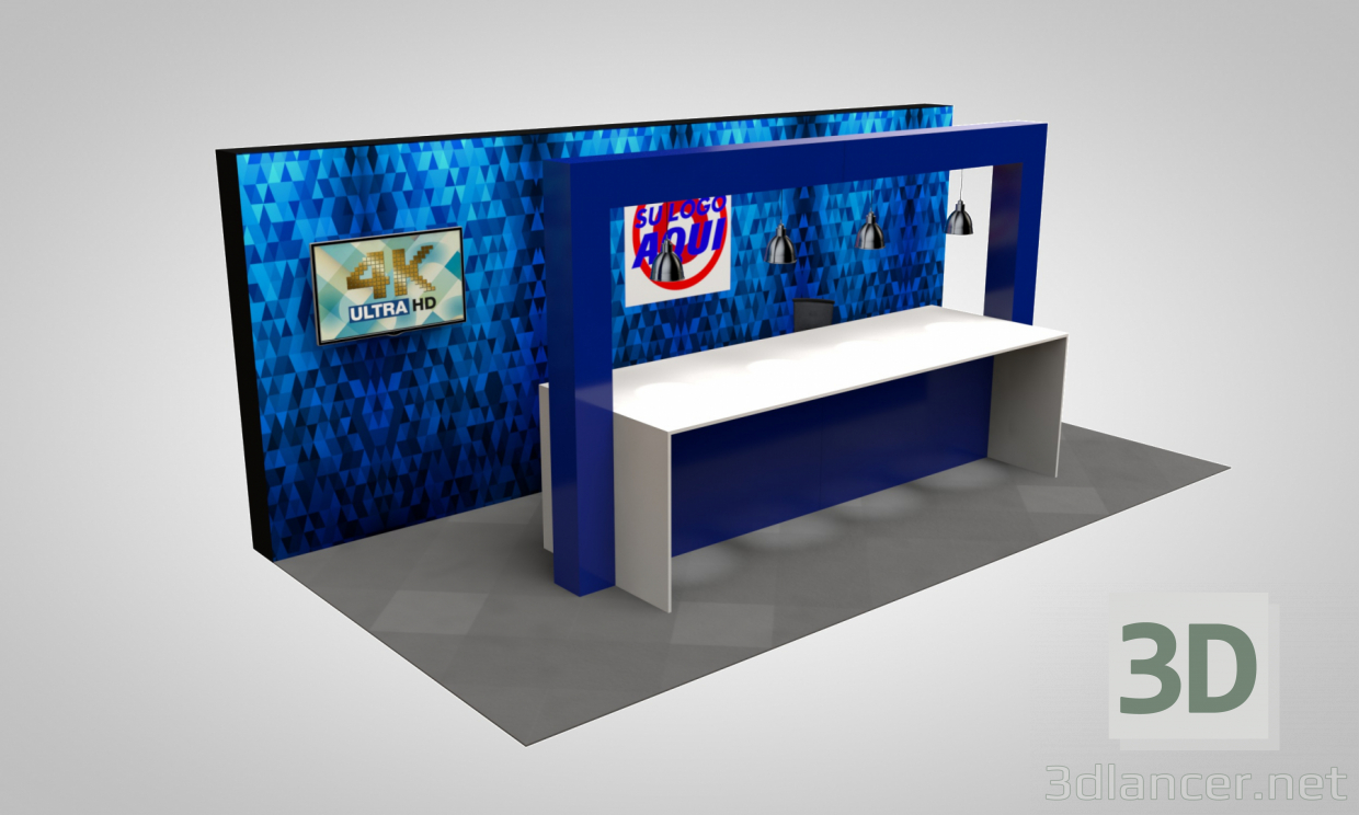3d model Promotional Installation - preview