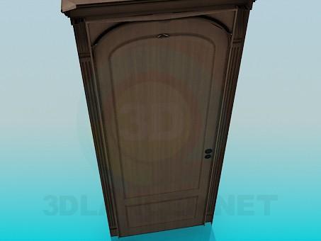 3d модель Дверь с замком – превью
