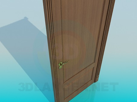 modelo 3D Puerta con cerradura - escuchar