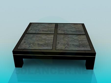 3d модель Квадратный низкий стол – превью