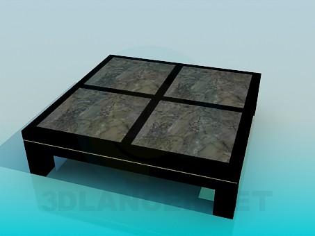 modelo 3D Mesa baja cuadrada - escuchar