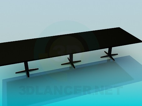 3d model The long rectangular table - preview