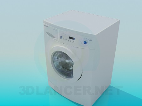 modelo 3D Lavadora Samsung - escuchar