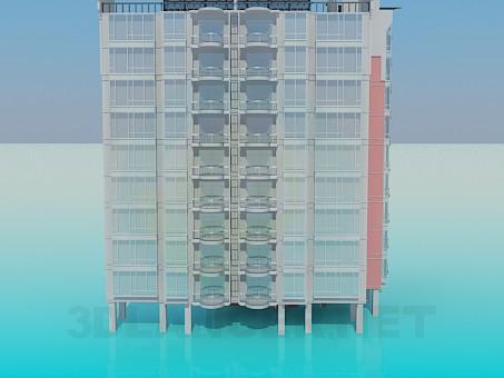 3d моделирование Многоэтажка модель скачать бесплатно