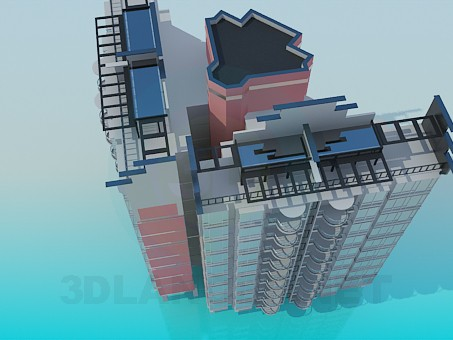 3d model Living block - preview