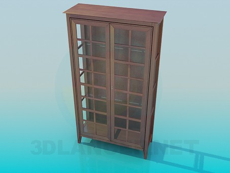 3d модель Шкаф-витрина – превью