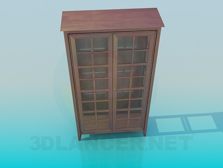 3d model Cupboard-showcase - preview