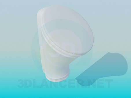 3d modeling Urinal model free download