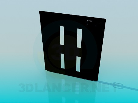 modelo 3D Puerta doble - escuchar