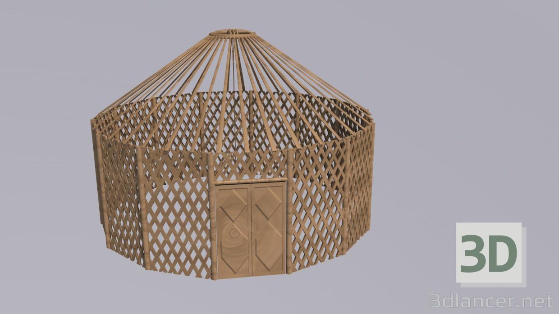 3d model yurt - preview