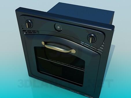 modelo 3D Horno - escuchar