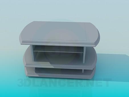 modelo 3D Soporte televiror y jugador - escuchar
