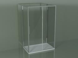 Box doccia 3 lati ZG + ZQ + ZF 130 con porta scorrevole al centro