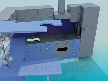 3d модель Кухонный гарнитур – превью