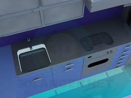modelo 3D Juego de cocina - escuchar