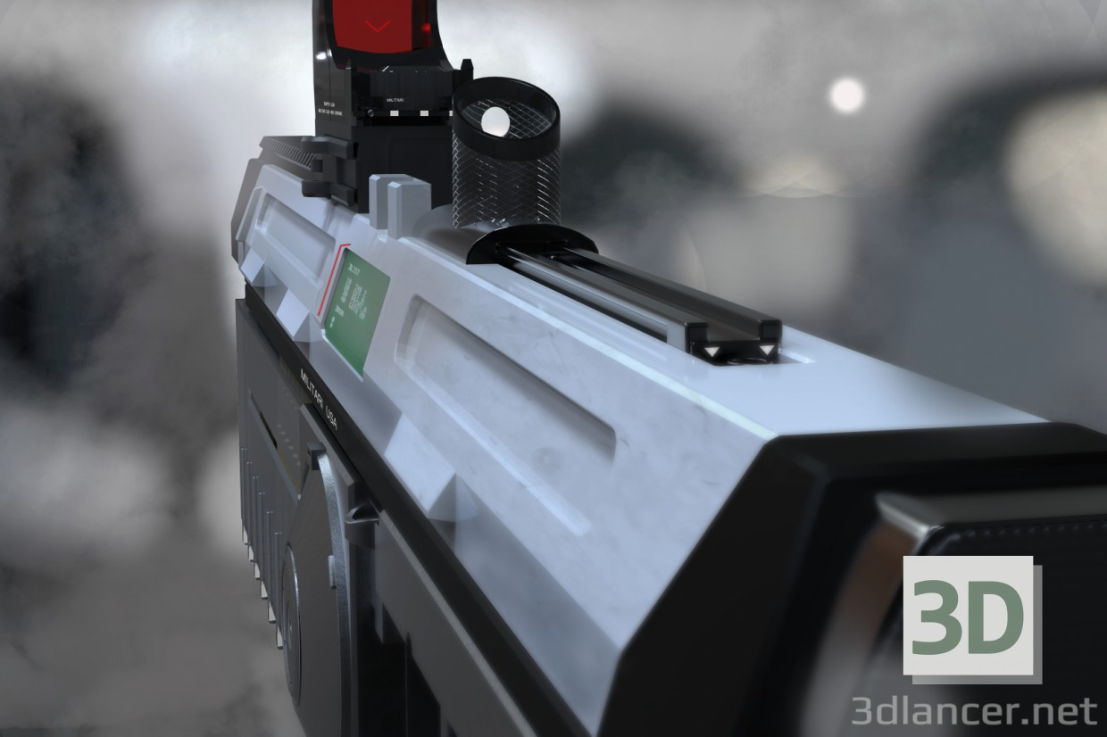 3d model weapon of the future - preview