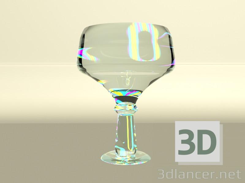 3d модель Прозрачная ваза – превью