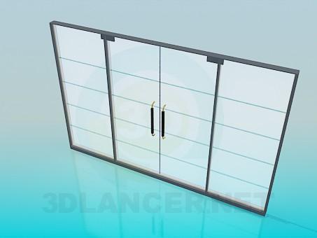 modelo 3D Estera de puerta deslizante - escuchar