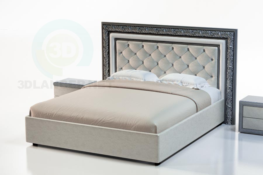 3d model Bed Sacramento - preview