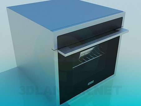 3d model Oven built - preview