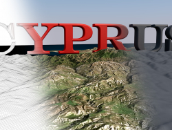 3D model of the landscape of the island of Cyprus / Landscape 3D model of the Cyprus island