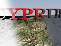 Modelo 3D da paisagem da ilha de Chipre / Paisagem modelo 3D da ilha de Chipre
