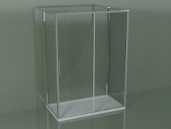 Box doccia 3 lati ZG + ZQ + ZF 150 con porta scorrevole centrale