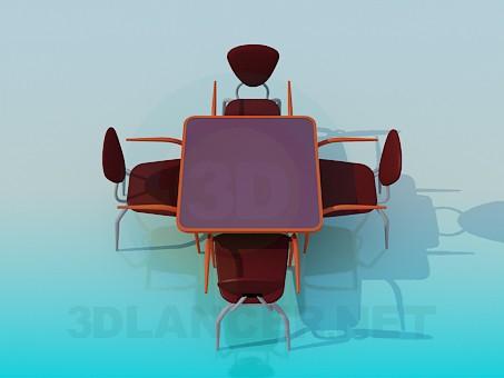 3d модель Столик для кафе – превью