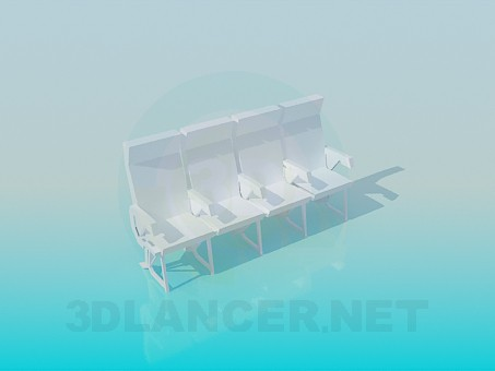 3d модель Скріплені сидіння – превью
